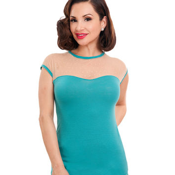 Rock Steady Miss Fancy Top Jade