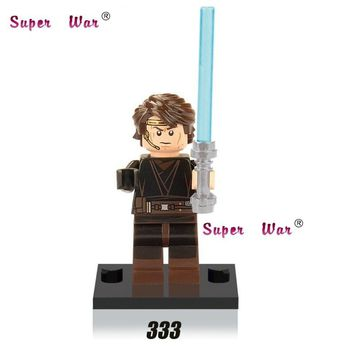 Star Wars Force Episode 1 2 3 4 5 20pcs  superhero marvel Anakin Skywalker Jedi Headset building blocks bricks models classic learning education baby toy AT_72_6