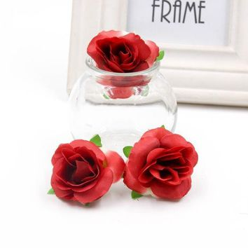 Silk Rose Artificial Multi Colors Flower Wedding Decoration