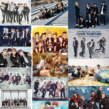 BTS Canvas Poster Canvas Painting Wall Poster Painting & Calligraphy Art Print Decorative Pictures Wall Pictures for Living Room