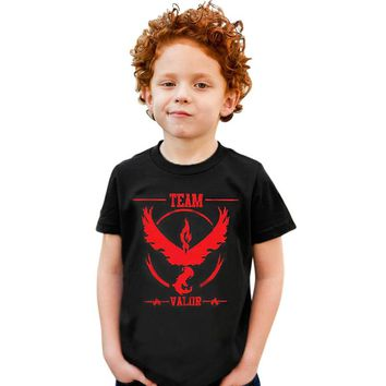 2016 Pokemon Go Boys T-shirt Children Tops Cartoon Team Mystic Kids T-shirts Tees Boy Blouse T Shirt Summer Cotton Baby Clothing
