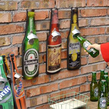 PEAPGB2 Bar tool American retro beer bottle opener creative Bar Restaurant wall hangings crafts barware 40cm
