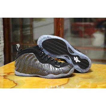 Nike Air Foamposite One Silver/Black Sneaker Size US8-13