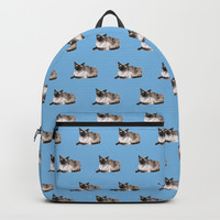 Siamese cat Backpack by savousepate