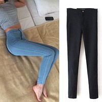 Slim Skinny High Waist Women Jeans