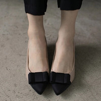 2014 Cover Toe High Heels Kitten Pointed Black Nude Bow Tie Color Block Patchwork Fashion Women Pumps Shallow Big Size 10 11 12