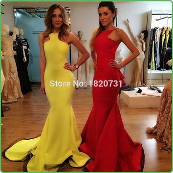 Sexy Sleeveless Mermaid Prom Dresses Backless Spaghetti Straps Evening Long Dress 2017 Vestidos De Noite