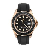 Rolex Yacht Master 40 Black Dial18k Rose Gold Mens Watch 116655