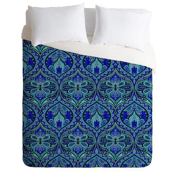 Aimee St Hill Ogee Blue Duvet Cover