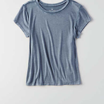AEO Soft & Sexy Ribbed Tomgirl T-Shirt , Wine