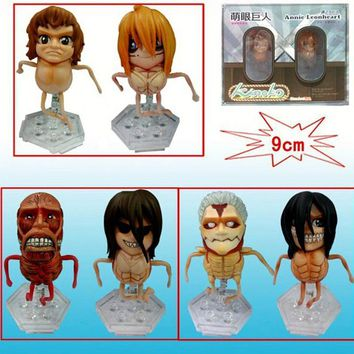 Cool Attack on Titan  2 Pack Mengyan Giant Clay Handmade Boxed Model PVC Doll Figure Collection Toys Kids Gifts AT_90_11