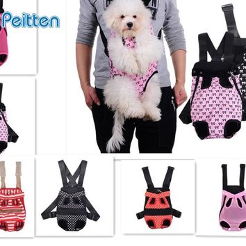 Dog Carrier Pet Dog Cat Front Chest Cotton BackPack