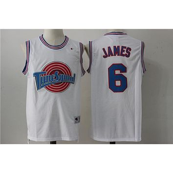 Online Space Jam Movie Jersey # 6 LeBron James White