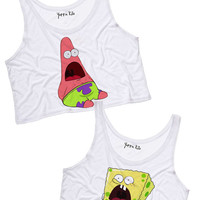 Surprised Best Friends Crop Tank Tops