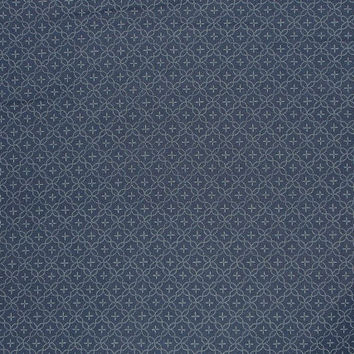 Cross Design Japanese Indigo Print Fabric--One Yard