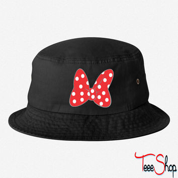 Minnie Bow Red bucket hat