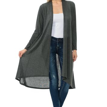 Cascading Open Front Cardigan