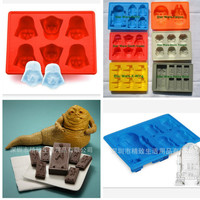 6 styles Creative Silicone Star Wars Darth Vader Ice Cube Tray Mold Cookies Chocolate Soap Baking Kitchen Tool