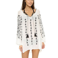 womens long sleeve embroidery shirts mini dress gift 134