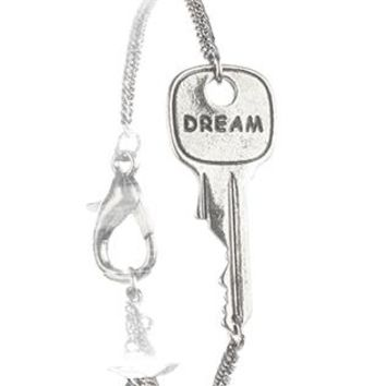 Aged Finish Metal Message Key Chain Dream Braclet