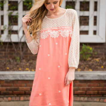 Baby I'm Worth It Dress, Peach Echo