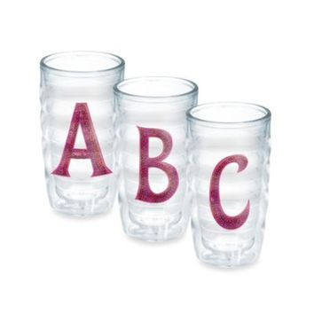 Tervis® Pink Sequined Monogram 10-Ounce Wavy Tumblers