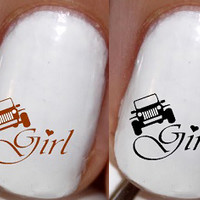 All Things Jeep - Jeep Girl Nail Decals