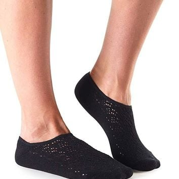Tavi Noir - Casual Grace No Show Sock | Knit Ebony
