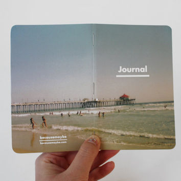 Beach Day Pocket Journal Notebook