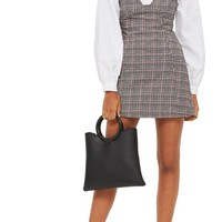 Topshop Plaid A-Line Pinafore Dress | Nordstrom