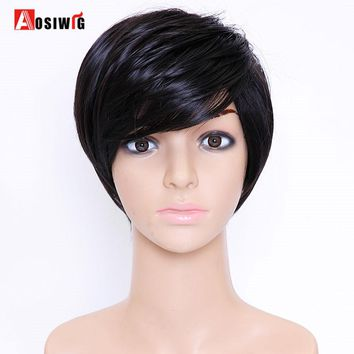 Aosiwig Pixie Cut Synthetic Wigs