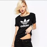 "Women Fashion ""Adidas"" Print T-Shirt Top Tee"