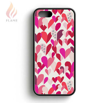 Kate Spade Confetti Hearts Multi Crystal Stones iPhone 5 Case iPhone 5s Case iPhone 5c Case