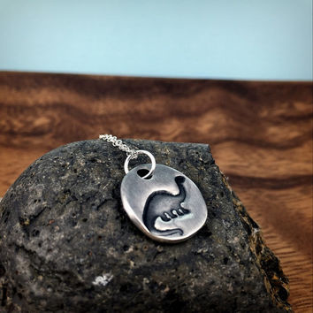 Brontosaurus Necklace - Fine Silver Dinosaur Pendant - Gift for Men - Mens Silver Jewelry - Sterling Silver Dino Jewelry for Him or Her
