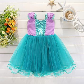 Baby Girls Summer Dress Princess Kids Clothes Dresses Girls Tulle Cosplay Costume 2 3 4 5 6 Years Children
