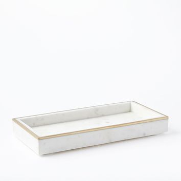 Brass Inlay Marble Tray