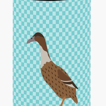 Dutch Hook Bill Duck Blue Check Tall Boy Beverage Insulator Hugger BB8035TBC