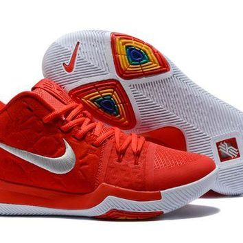 DCCK Nike Kyrie Irving 3 Red/Silver Sport Shoes US7-12