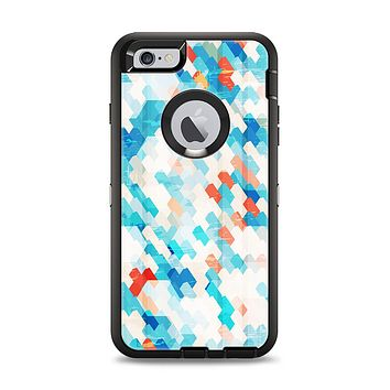 The Modern Abstract Blue Tiled Apple iPhone 6 Plus Otterbox Defender Case Skin Set
