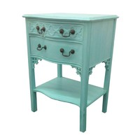 Pre-owned Aqua Two Drawer Night Stand