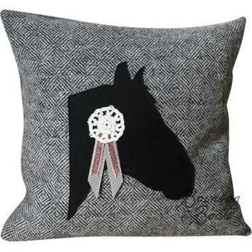 Horse, Dog, & Fox Natural Wool Pillow Covers