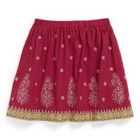Peek 'Jasmine' Metallic Embroidered Skirt (Toddler Girls, Little Girls & Big Girls) | Nordstrom