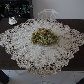 Rustic cloth embroidery dining table cloth tv refrigerator washing machine cutout universal cover towel