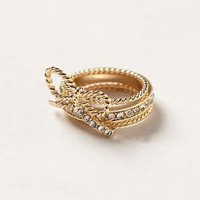 Lassoed Bow Ring by Anthropologie Gold 7 Jewelry