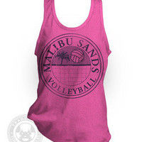 MALIBU SANDS Volleyball Saved By The Bell  American Apparel BB408 neon Tank Top