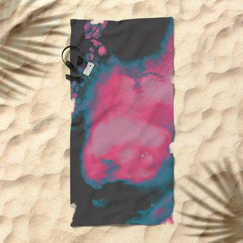 Disco Candy Beach Towel by duckyb
