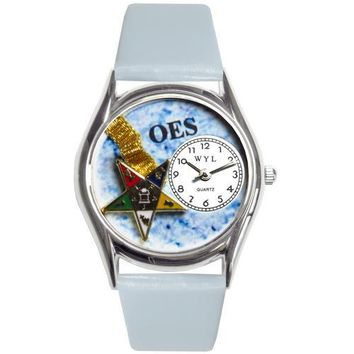 Order of the Eastern Star Watch Small Silver Style