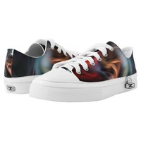 Muted Color Abduction Fractal Low-Top Sneakers