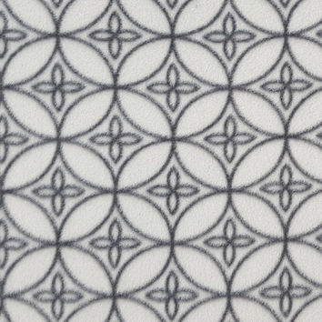 Anti Pill Fleece Fabric 57''-Gray on Gray Geometric Circles - JoAnn | Jo-Ann