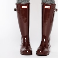 Hunter Original Tour Gloss Umber Wellington Boots